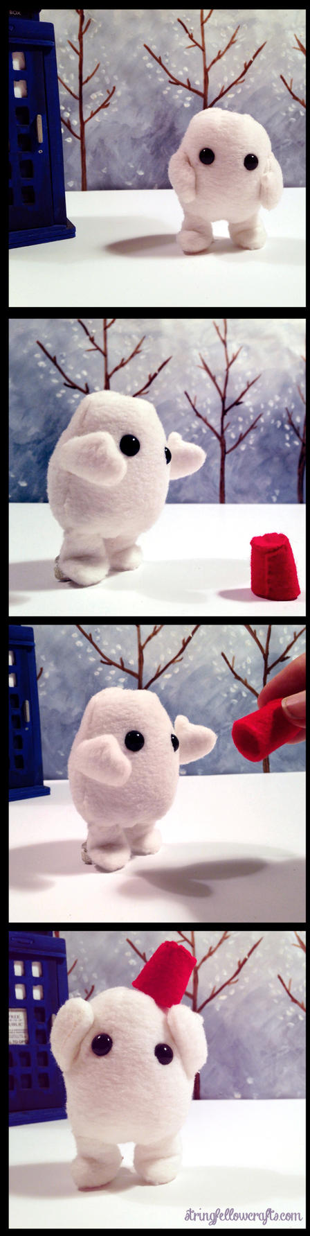 Adipose and fez plushie by csgirl