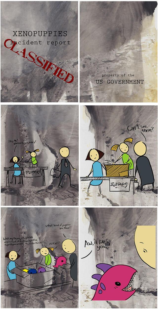 Xenopups Comic by csgirl