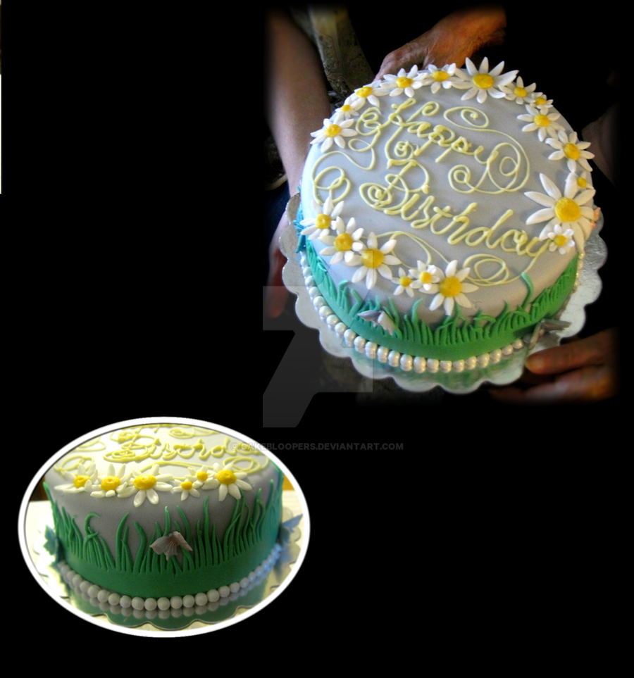 Happy Daisy Birthday Cake By Cakebloopers On Deviantart