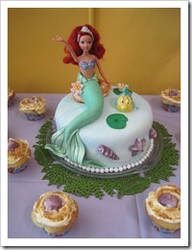 The Little Mermaid 3rd birthday cake by CakeBloopers