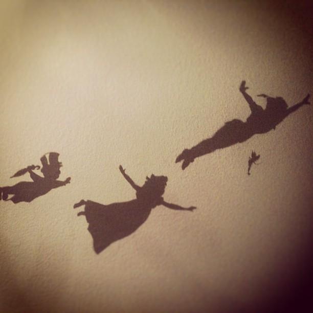 peter pan silhouette by cakebloopers