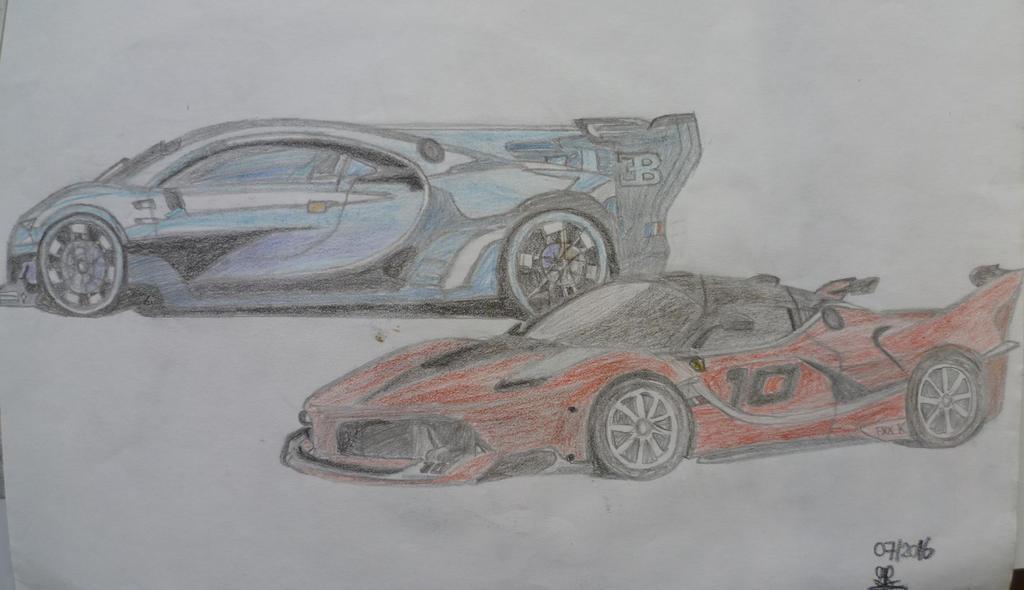 Bugatti Vision GT (Concept) vs Ferrari FXX K by Sandro98ch