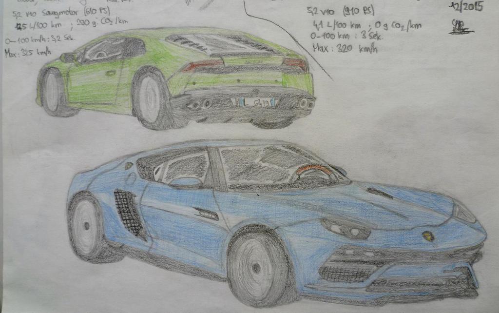 Lamborghini Huracan vs Lamborghini Asterion by Sandro98ch