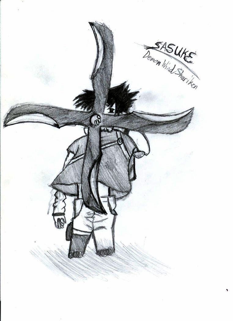 demon wind shuriken sasuke by kisameshark14 on deviantart