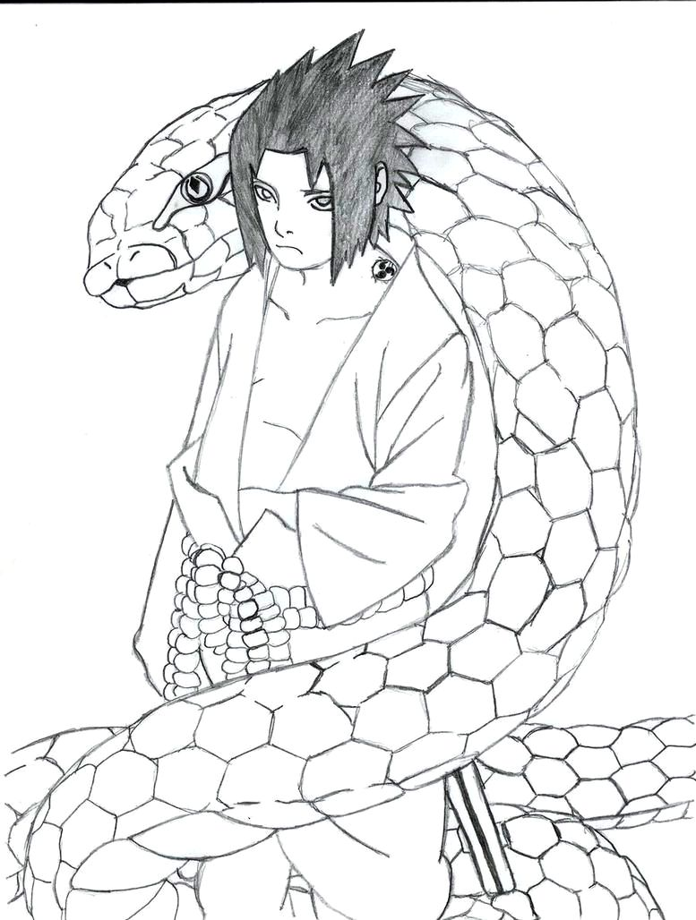 Orochimaru S Student Sasuke 316932925 on sasuke uchiha coloring pages