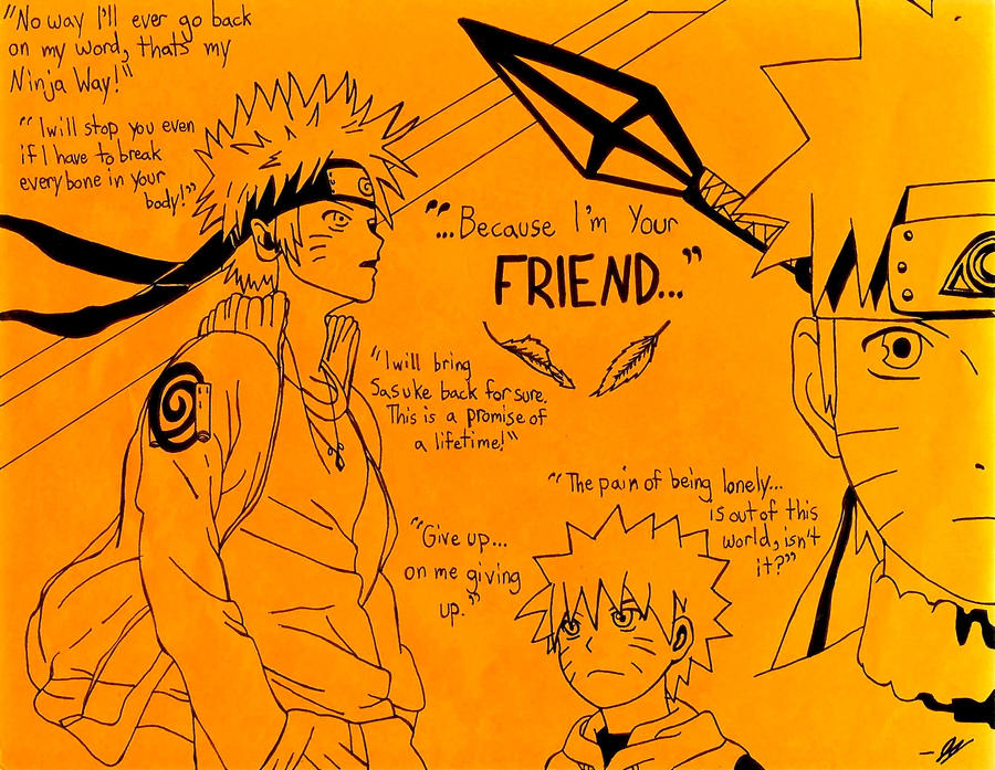 Because I M Your Friend Naruto Tribute By