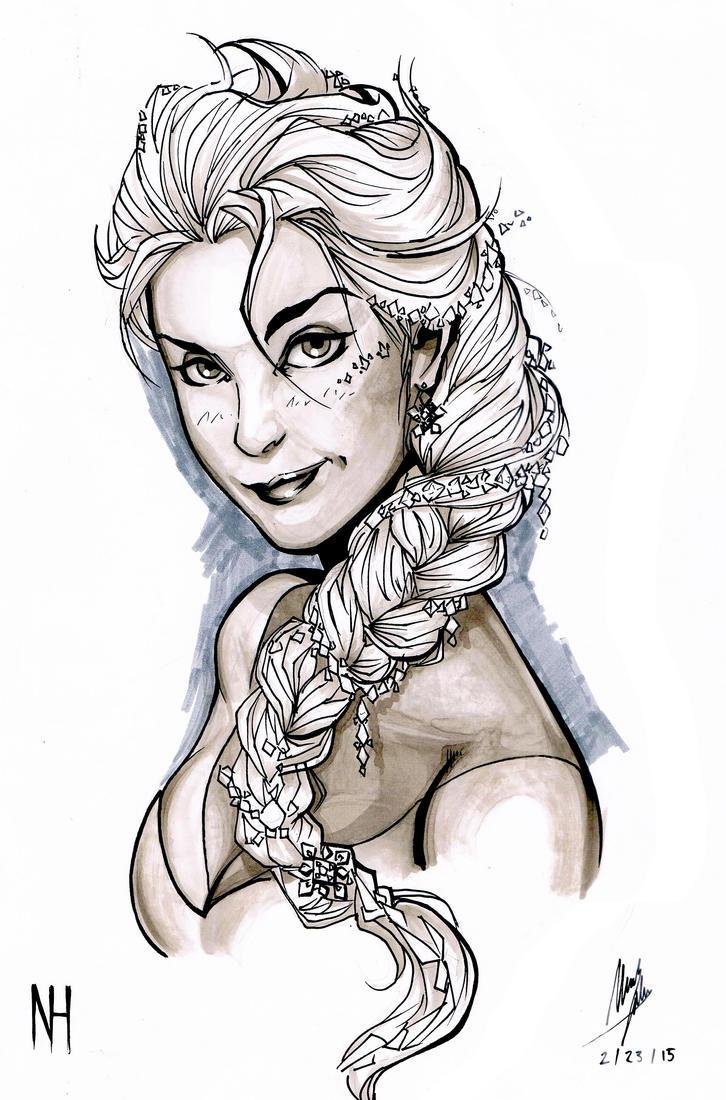 Elsa Marker Sketch by xenomorph01
