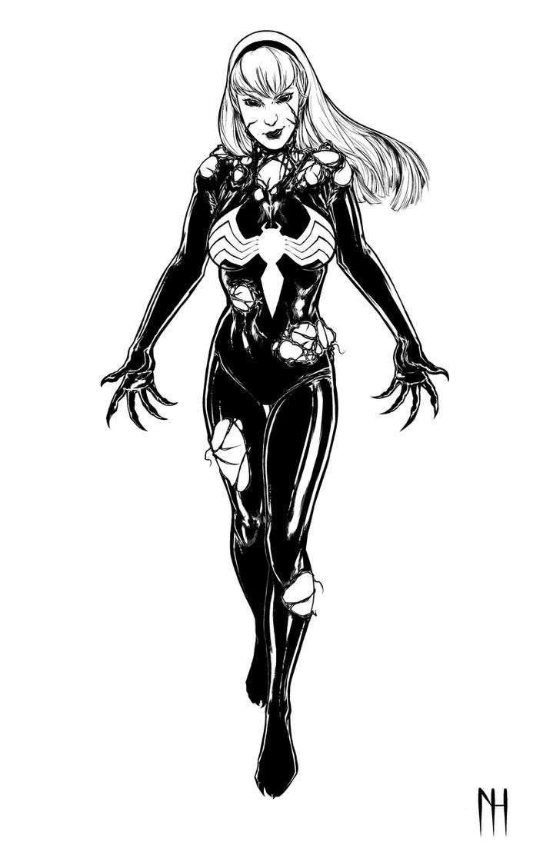 Gwenom Inks by xenomorph01