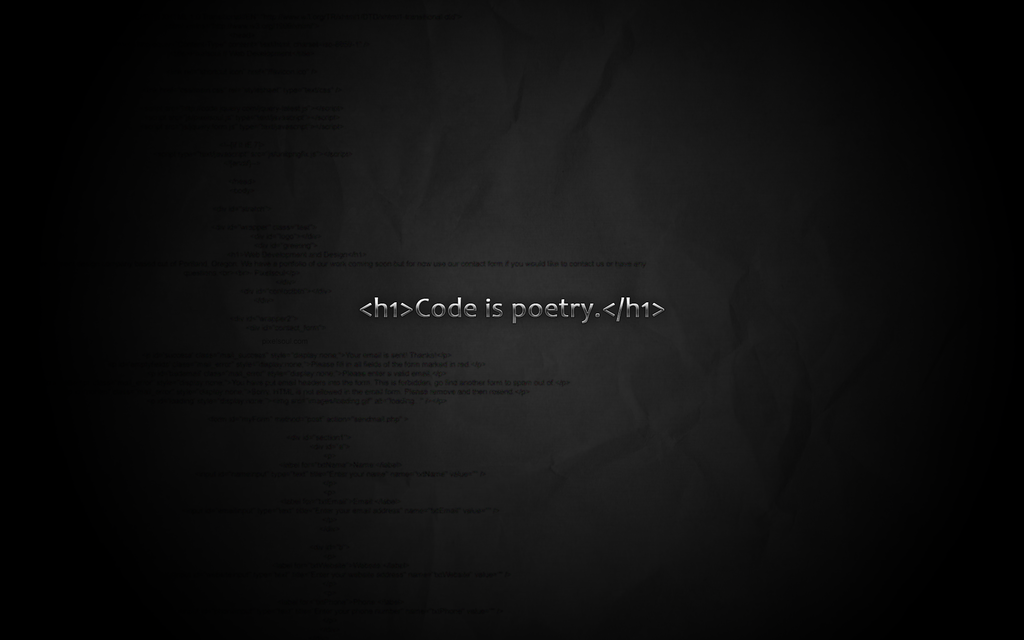 Code is poetry wallpaper by pixelsoul on DeviantArt