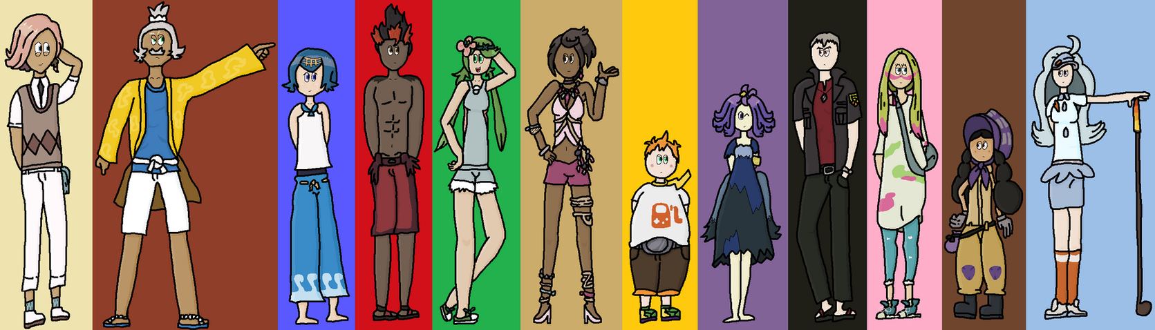 pokemon sun and moon captains and kahunas by adam p d on deviantart