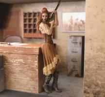 Western Girl by VderL
