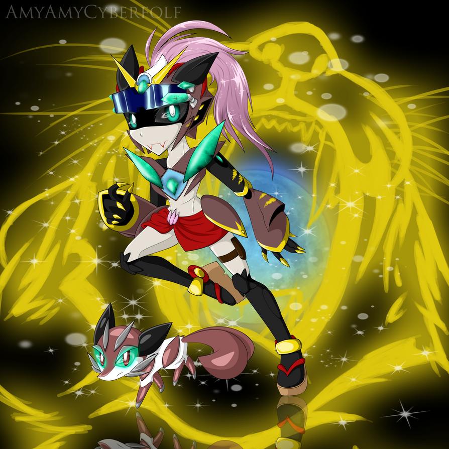 Kin Lao and Meiko by AmyAmyCyberfolf