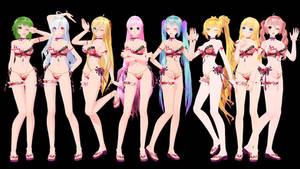 TDA Kimono Bikinis - Model DL!