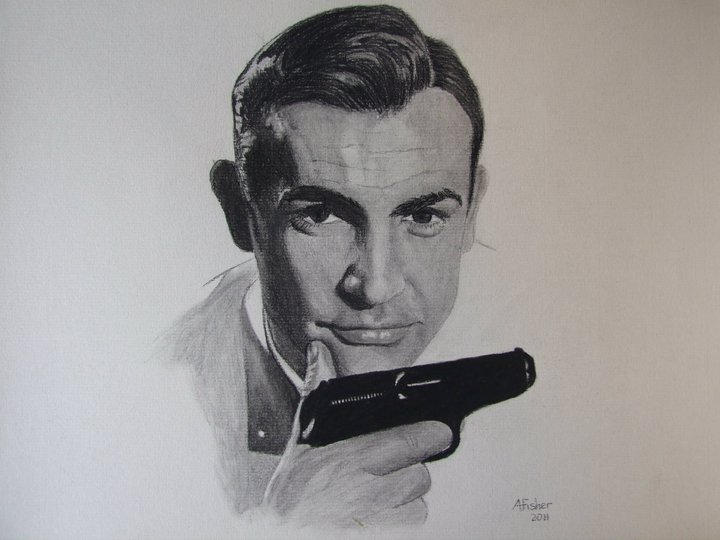 James Bond Sean Connery By Andrewfisherart On Deviantart