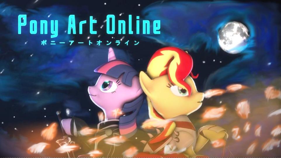 Pony Art Online by thefakedreel
