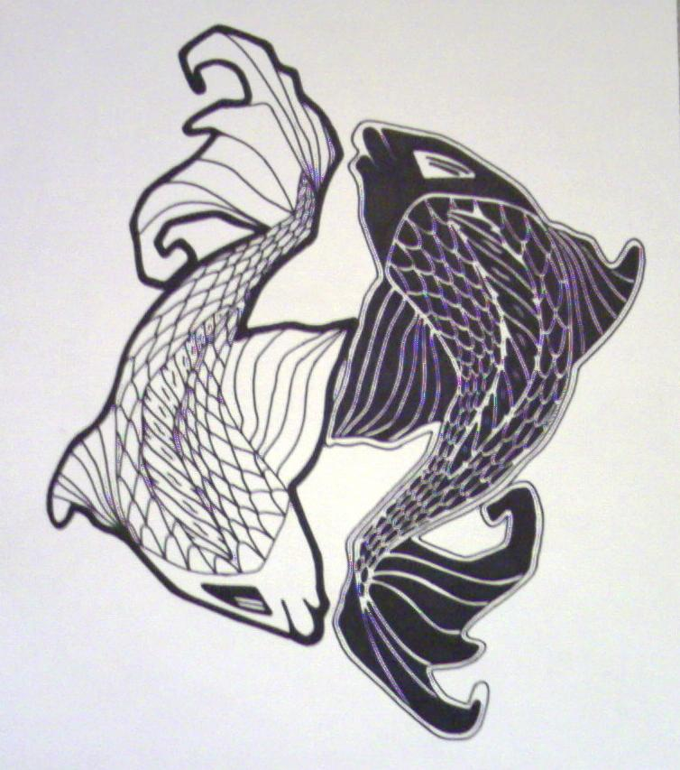 Koi yin yang by dcretch57 on deviantart for Koi fish yin yang tattoo