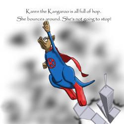 Karen the Kangaroo is all full of hop...