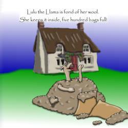 Lulu the Llama is fond of her wool...