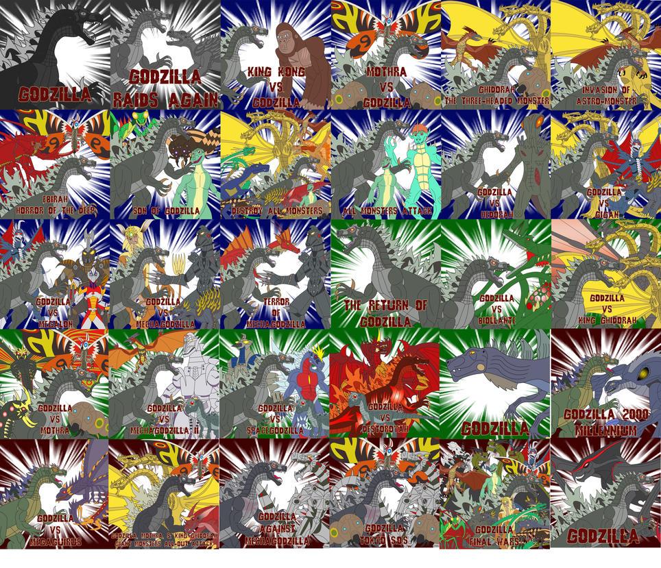 Godzilla movie mega poster by Dinossword