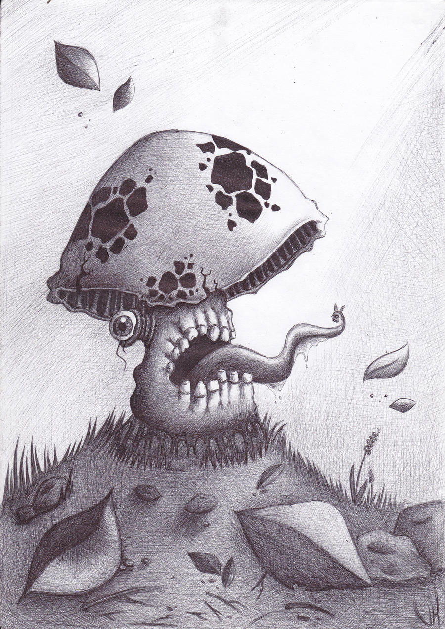 mushroom monster by fakesatan on deviantart