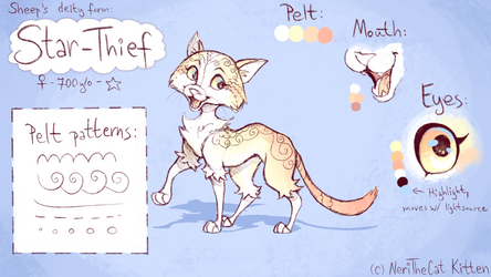 Star-Thief [Sheeps deity form reference sheet] by NeriTheKitten