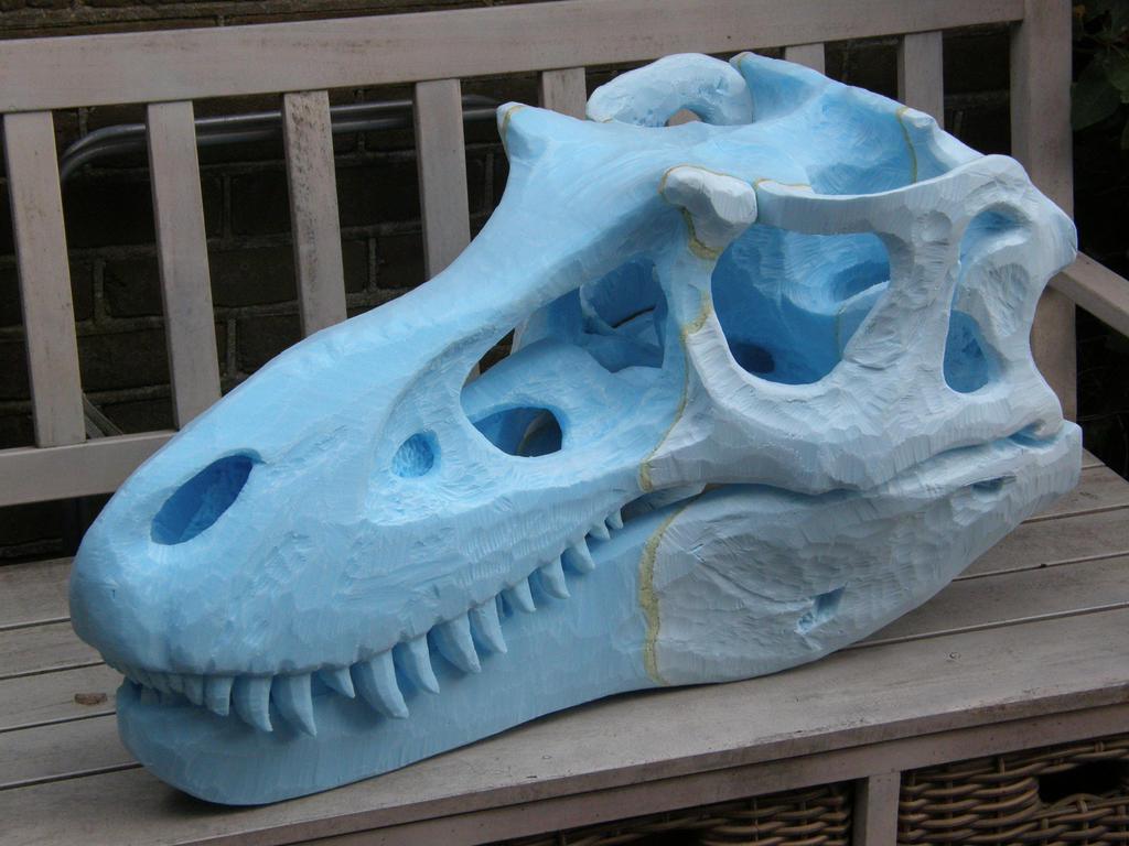 Gorgosaurus skull WIP 5 by olofmoleman