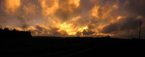 Perfect panoramic sunset