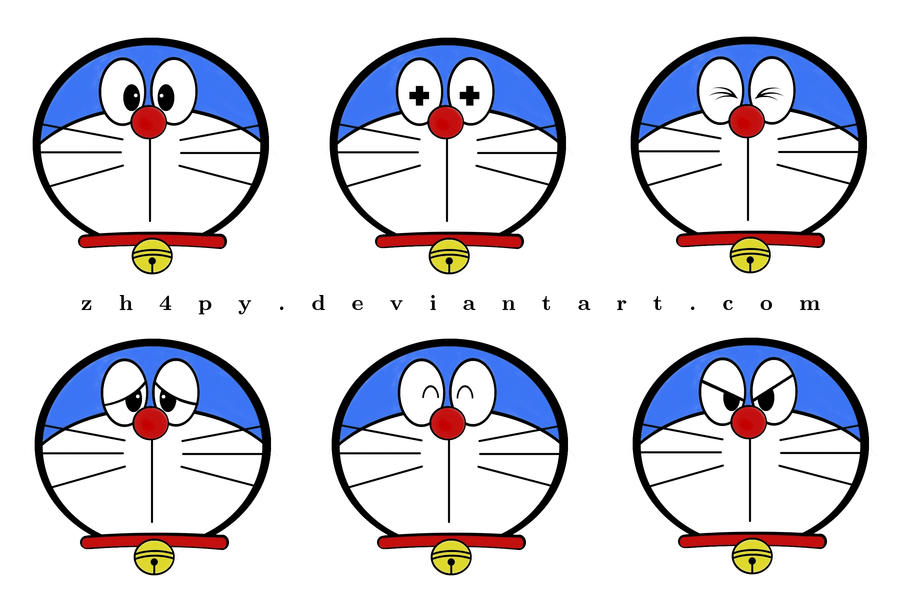 doraemon emoticon by zh4py