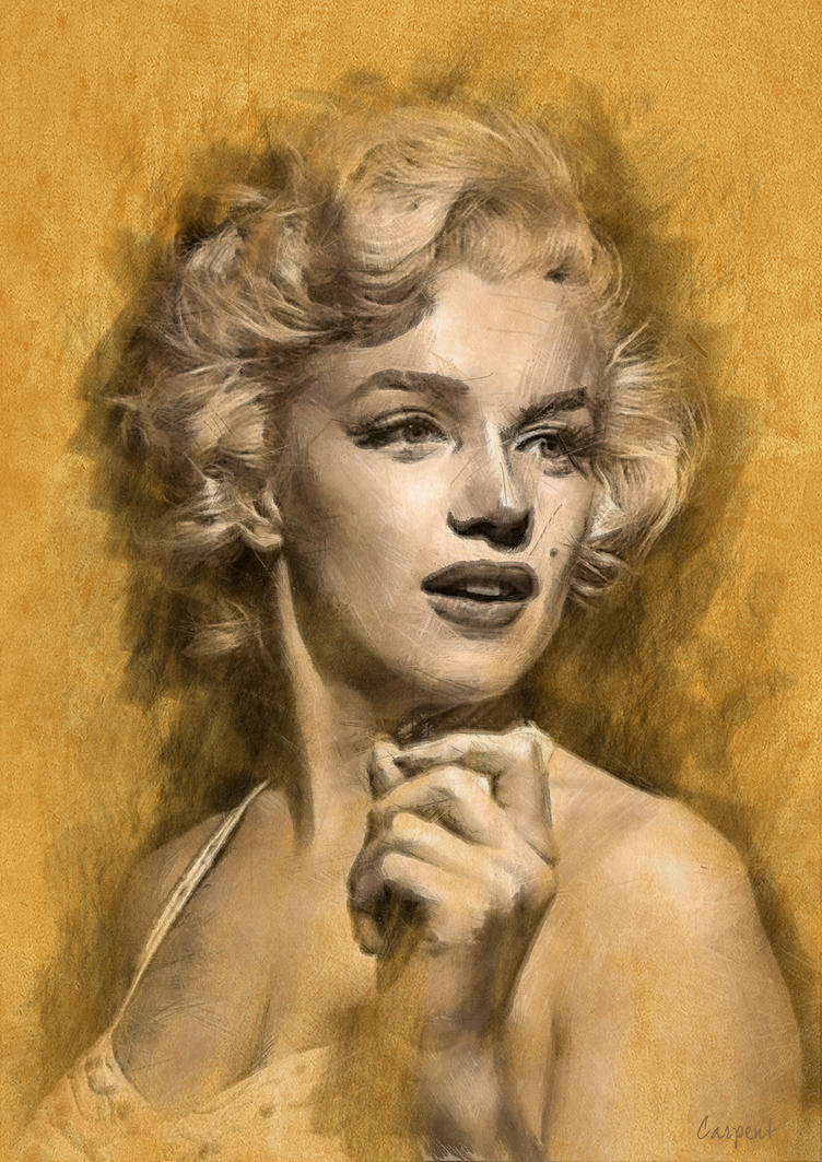 Marilyn pencil portrait by Priapo40 on DeviantArt