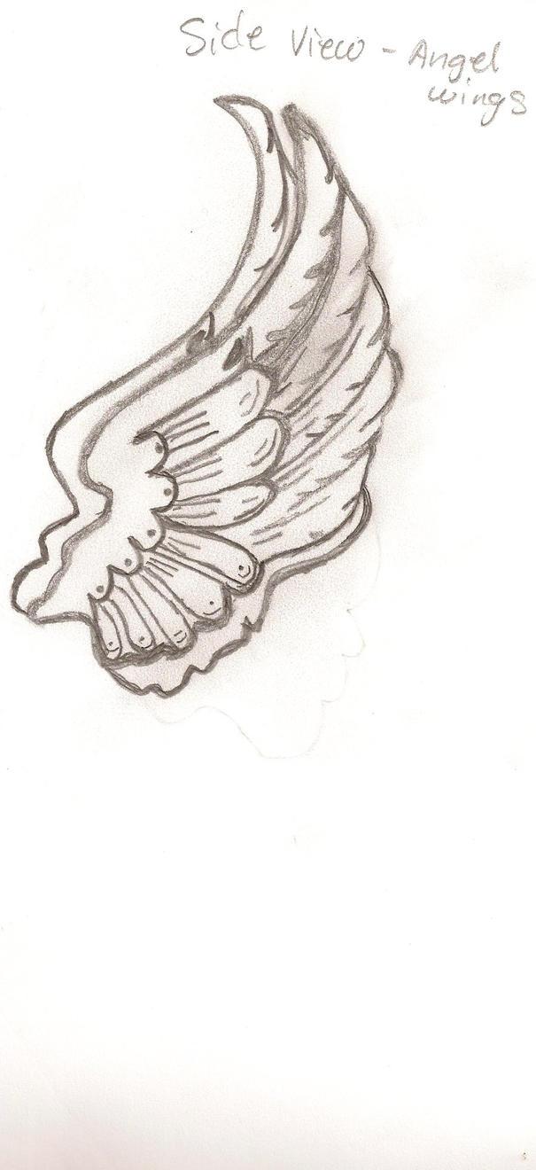 Angel Wings Side View Side view angel's wings by