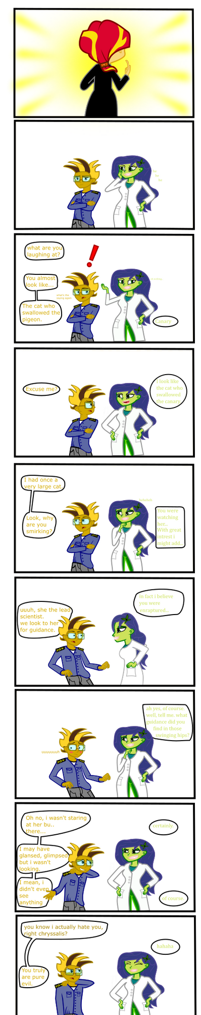 Sunset's undertale: shipping joke by Robbedhondt