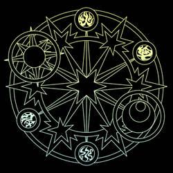 Kinomoto Sakura's magic circle -Clear Card Arc- by sharkpp