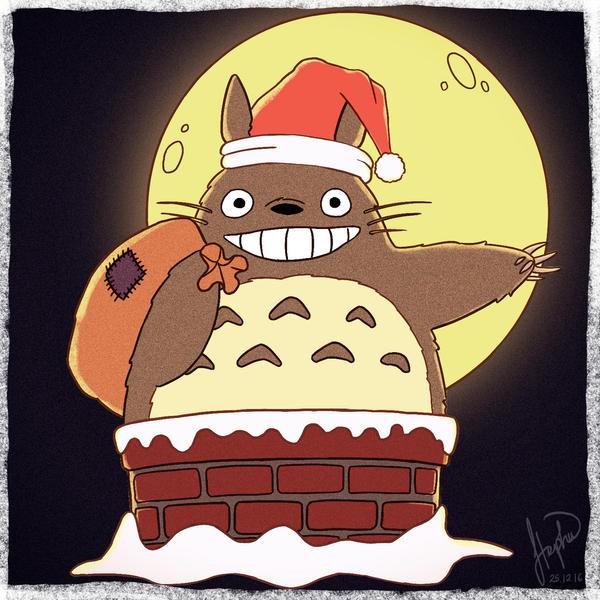 Merry Totoro! by StephWSM