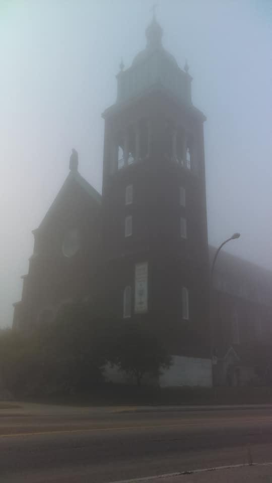 fog church by YersaCaltara