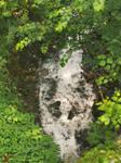 waterfall below
