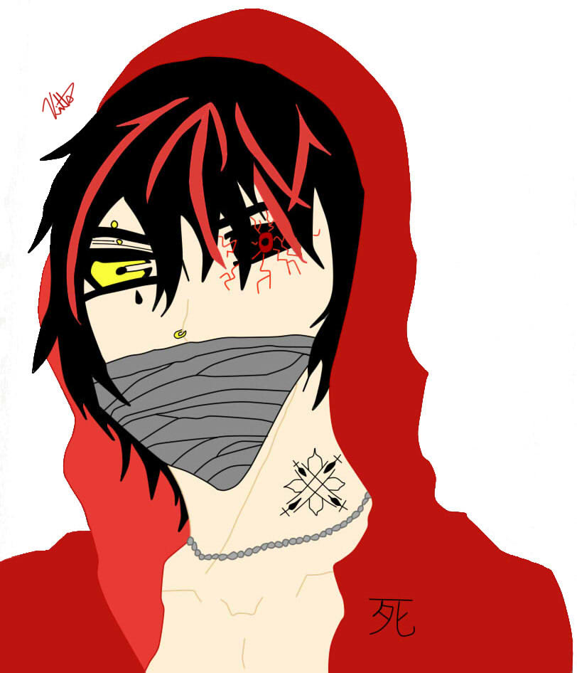 Anime Guy in Hoodie (color) by mk101able on DeviantArt