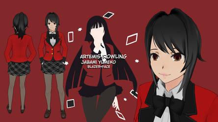 Jabami Yumeko-Yandere simulator Skin-Artemis Rowli by Artemis-Rowling