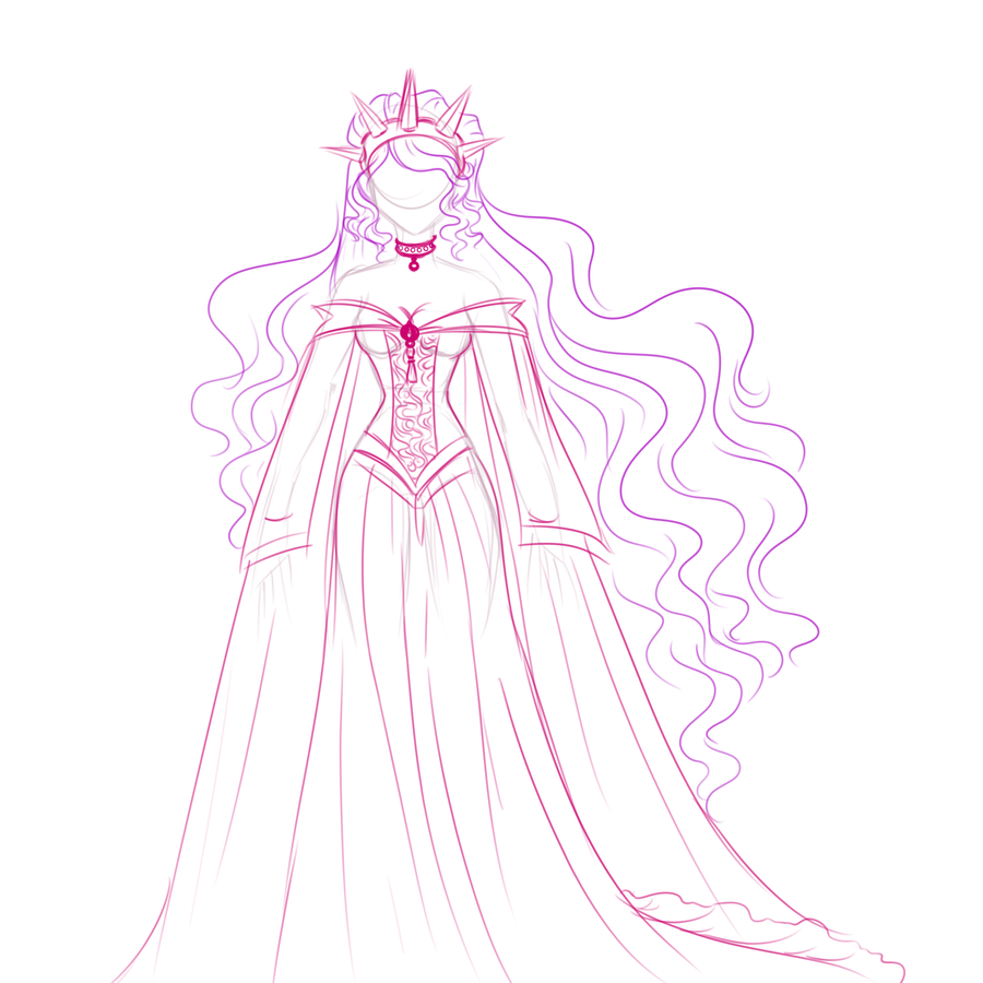 Image From Http Fc02 Deviantart Net Fs71 I 2012 289 4 E Star Princess Dress Concept By Ai How To Draw A Disney Princess Dress Free Coloring Sheets