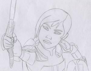 Sabine Wren Sketch #4 - Star Wars Rebels