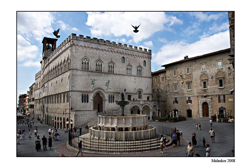 Piazza IV Novembre - Perugia by malaskor