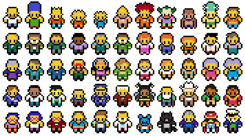 Pixel Simpsons Sprites By Mudkat101 On Deviantart