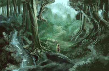 Forest Scenery - Foggy Dawn