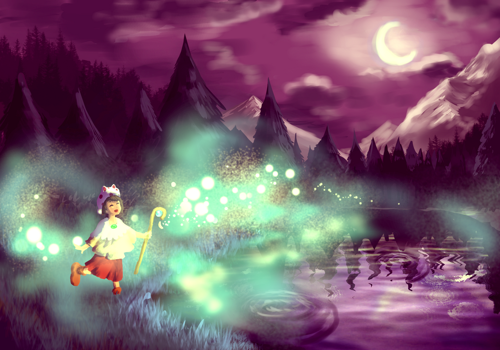 Paper-Soul Theatre Night forest by XacUop10