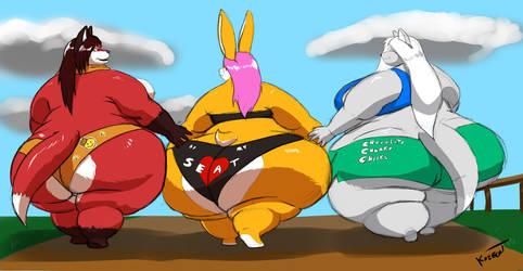 Three Cute Fatties by Kazecat
