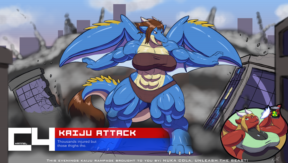 Kaiju Sponsorship by Kazecat