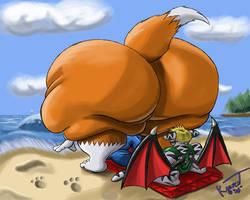 Beach Time with Li by Kazecat