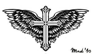 winged cross
