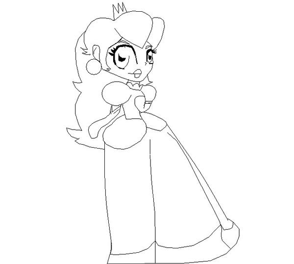 princess bunny coloring pages | Princess Peach Coloring Page by BunnyLet on DeviantArt