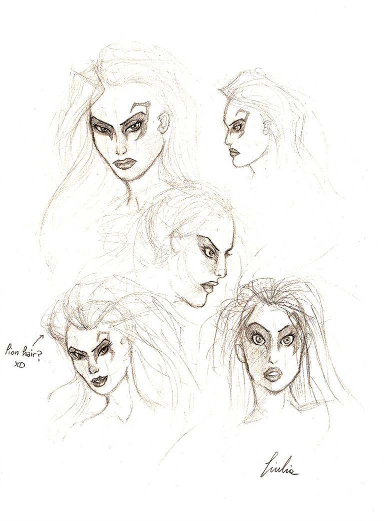 Darth Nexu +facial sketches+ by BlackDragon-kin