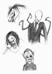 Creepypasta sketches
